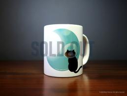 'Cat and Moon' Mug