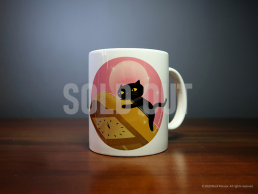 'Cat and Clock' Mug
